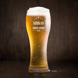 - Erkeğe Hediye İsimli Uzun Bira Bardağı