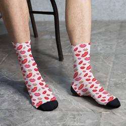 - Erkeğe Hediye Öpücük Tasarımlı Çorap