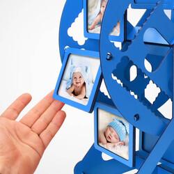 Erkek Bebeğe Özel Dönme Dolap Fotoğraf Çerçevesi - Thumbnail