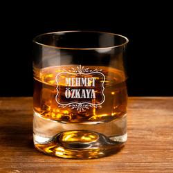 Erkeklere Hediye İsimli Viski Bardağı - Thumbnail