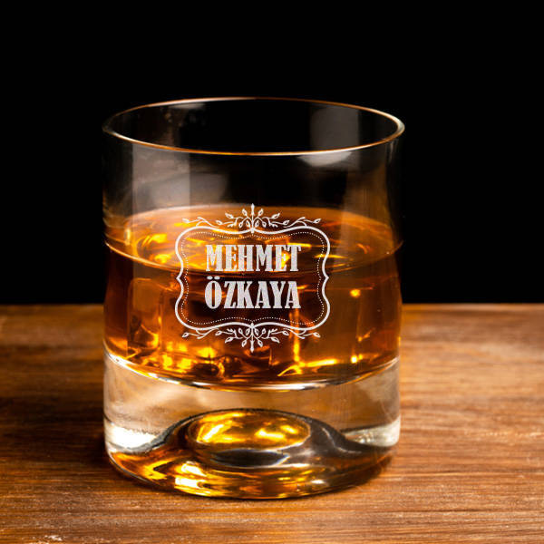 Erkeklere Hediye İsimli Viski Bardağı