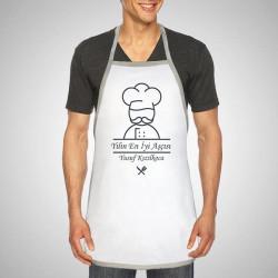 - Erkeklere Özel İsim Yazılı Mutfak Önlüğü