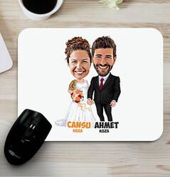 - Evlilik Hayali Karikatürlü Mouse Pad
