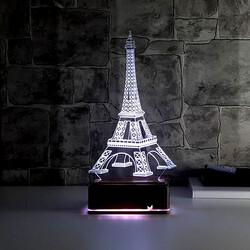- Eyfel Kulesi 3D LED Gece Lambası