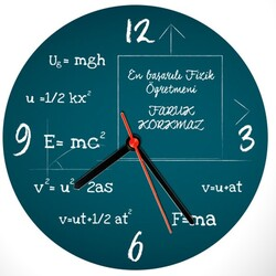 - Fizik Öğretmenine Özel Duvar Saati