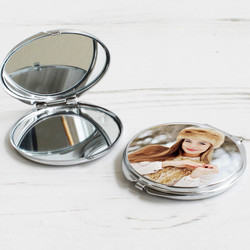 Fotoğraf Baskılı Metal Makyaj Aynası - Thumbnail