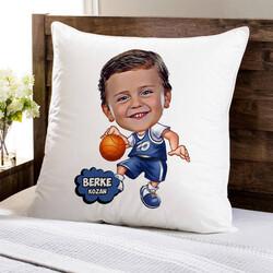 - Geleceğin Basketbolcusu Karikatürlü Yastık
