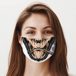 - Goril Ağzı Tasarım Yıkanabilir Maske