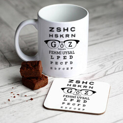 - Göz Doktorlarına Özel Kupa ve Bardak Altlığı