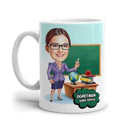 - Güzel Öğretmenim Karikatürlü Kupa Bardak