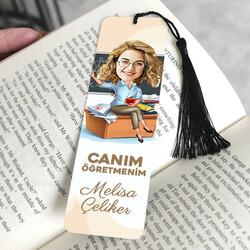 - Güzel Öğretmenimiz Karikatürlü Kitap Ayracı