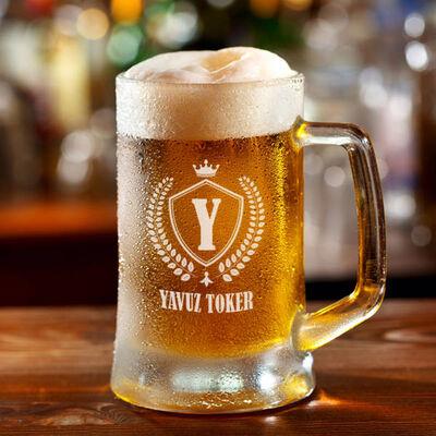 - Harfli ve İsimli Kişiye Özel Bira Bardağı