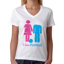 - I Love Football Bayan Tişörtü