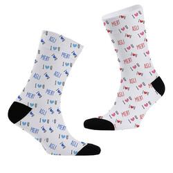- I Love You İsime Özel 2li Çorap Seti