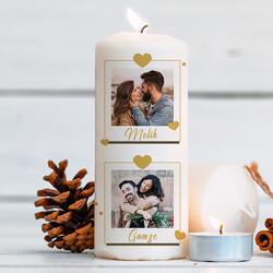 - İki Fotoğraflı Sevgiliye Hediye Mum