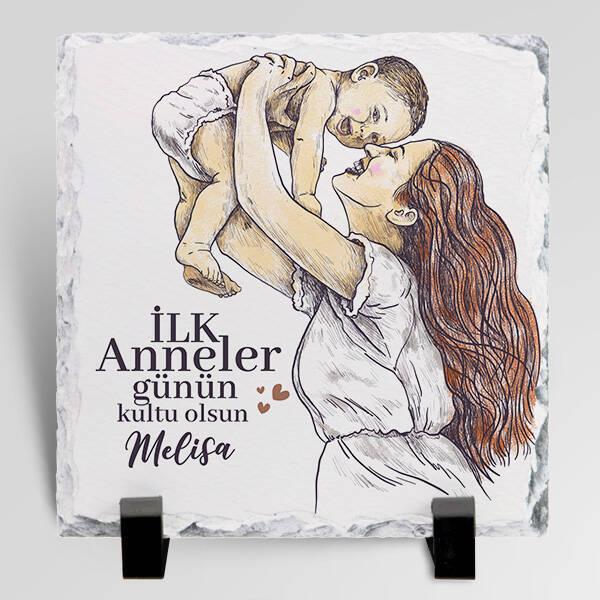 İlk Anneler Günü Hediyesi Taş Blok