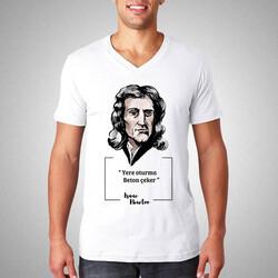 - Isaac Newton Esprili Tişört