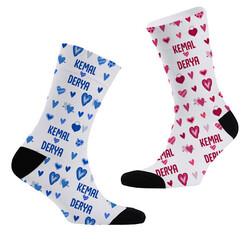 - İsme Özel 2li Sevgili Çorap Seti