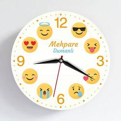 - İsme Özel Emoji Duvar Saati