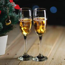 - İsme Özel Hediyelik 2'li Şampanya Kadehi