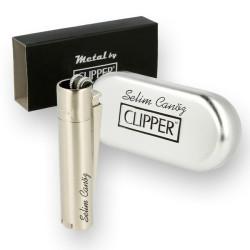 - İsme Özel Metal Clipper Çakmak