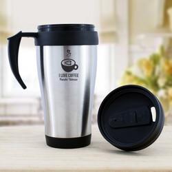 - İsme Özel Metal I Love Coffee Termos