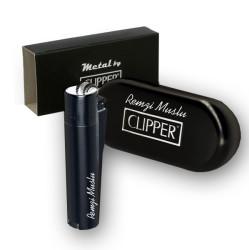 - İsme Özel Siyah Clipper Çakmak