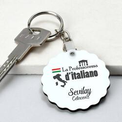 - İtalyanca Öğretmenine Hediye Papatya Anahtarlık