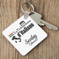 - İtalyanca Öğretmenleri için Hediye Anahtarlık