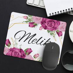 - Kadına Hediye Gül Desenli İsimli Mousepad