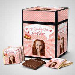 - Kadınlar İçin Çikolatalı Doğum Günü Kutusu