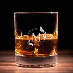 - Kadınlara Hediye Harfli Viski Bardağı
