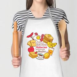 - Kahvaltı Tasarımlı İsme Özel Mutfak Önlüğü
