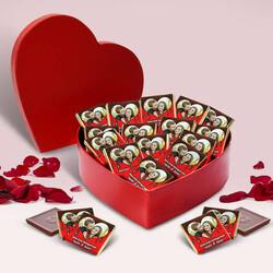 Kalp Kutuda Fotoğraflı Çikolatalar - Thumbnail