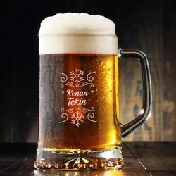 - Kar Tanesi İsme Özel Bira Bardağı