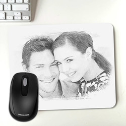 - Kara Kalem Resim Efektli Mousepad