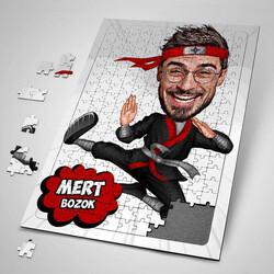 - Karateci Adam Karikatürlü Puzzle