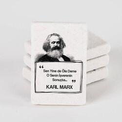 - Karl Marx Esprili Taş Buzdolabı Magneti