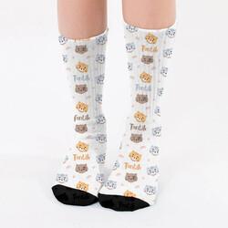 - Kedi Severlere Özel İsimli Çorap