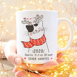 - Kediciğin Yeni Yıldan Dileği Kupa Bardak