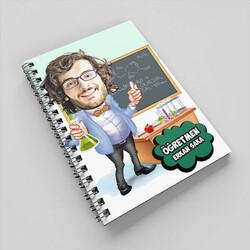 - Kimya Öğretmeni Karikatürlü Defter