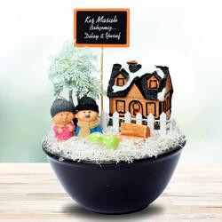 - Kış Temalı Sevgililere Özel Minyatür Bahçe