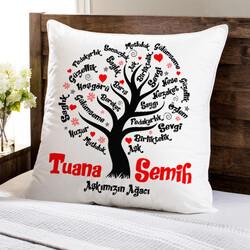 - Kişiye Özel Aşk Ağacımız Yastık