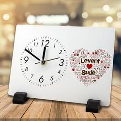 - Kişiye Özel Aşk Dolu Masa Saati