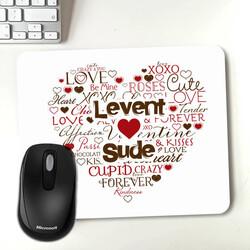 - Kişiye Özel Aşk Dolu Mousepad