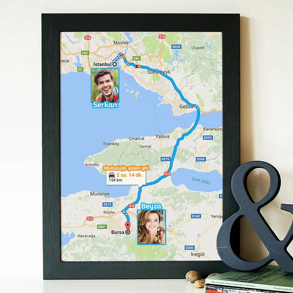 Kişiye Özel Aşkımızın Haritası Sertifikası