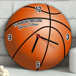 - Kişiye Özel Basketbol Topu Duvar Saati