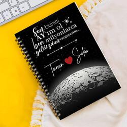 - Kişiye Özel Benim Ay'ım Ol Sevgili Defteri