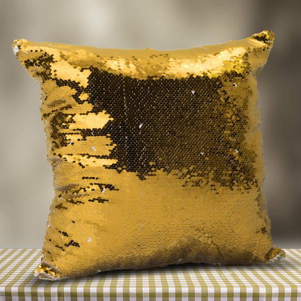 Kişiye Özel Fotoğraflı GOLD Sihirli Yastık