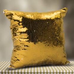 Kişiye Özel Fotoğraflı GOLD Sihirli Yastık - Thumbnail